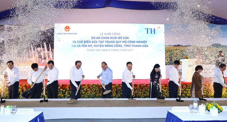 TH started to build a cluster of high-tech concentrated dairy farms containing 20,000 cows in Thanh Hoa