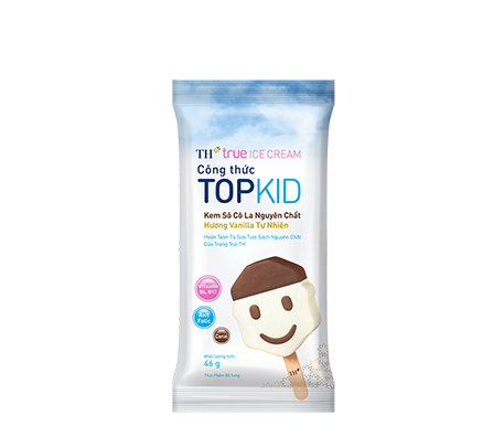 TH true ICE CREAM Pure Chocolate – Natural Vanilla TOPKID Formula Ice Cream