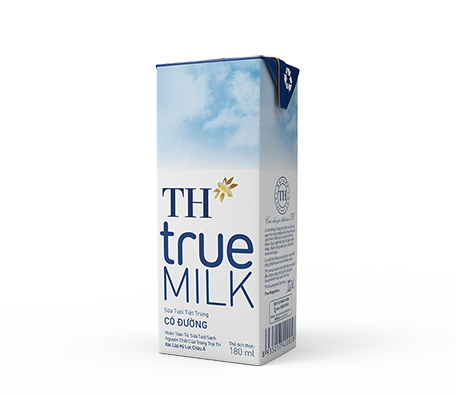 TH true MILK UHT Sweetened Fresh Milk (180ml)