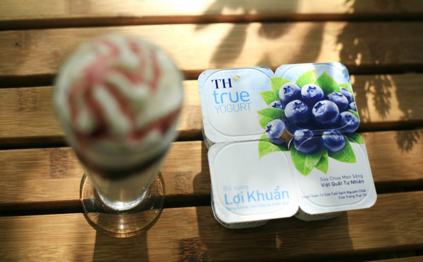 Supplement nutrient with Probiotic Yogurt Natural Blueberry