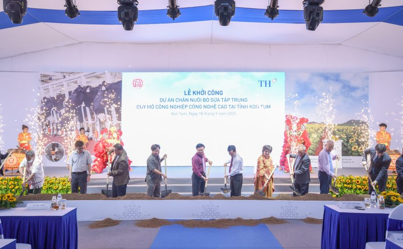 TH Group started the largest high-technology dairy breaker project in Central Highlands at Kon Tum