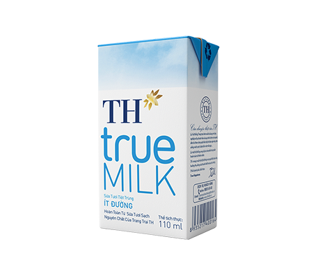 TH true MILK UHT Less Sugar Fresh Milk (110ml)
